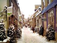 Fairytale in the snow Quebec City street