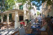Relaxing at a cafe in Athens