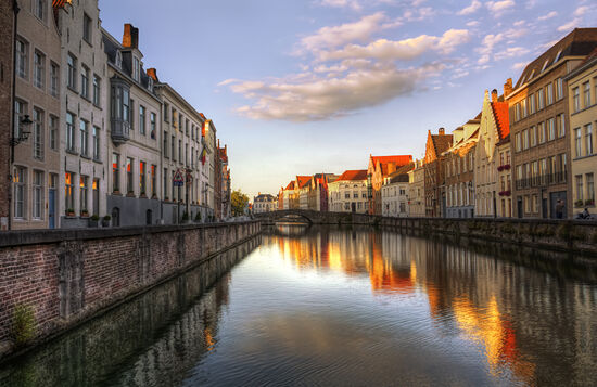 Gorgeous Bruges with colorful reflections in canal.jpg