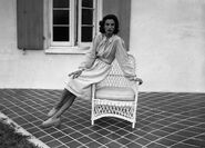 Babe Paley in Florida in 1947