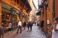 Gorgeous street in Bologna