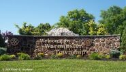 Welcome to Warminster sign