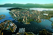 Gorgeous Vancouver like an island of skyscrapers