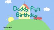 Daddy pig birthday