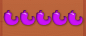 5 purple peppers line