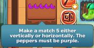 5 purple peppers line splash