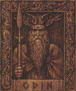 Odin sur bois