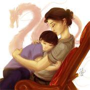 Frank et sa mère