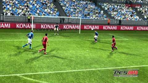 Gameplay-Szenen und -Tore, die an die EM 2012 errinern