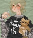 No insulin no life logo