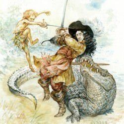Peter-Pan-and-Captain-Hook-fight-in-this-creative-childrens-book-illustration-by-Omar-Rayyan-250x318.jpg