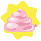 Pink balloon poo