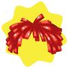Carnival foil wig