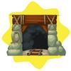 Mining shaft door