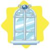 Cinderella castle paned window