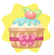 Ribboned Easter Cupcake