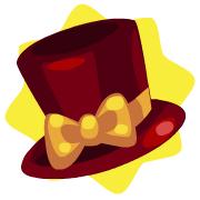 Carnival ringmaster ribbon top hat