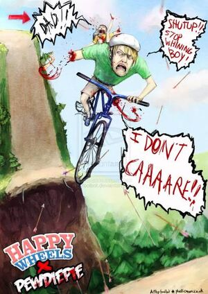 Fanart Poster of Happy Wheels: PewDiePie Edition