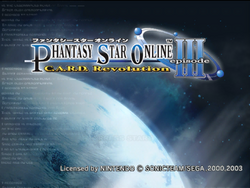 Phantasy Star Online Episode III C.A.R.D
