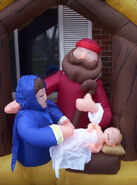 Inflatable nativity scene