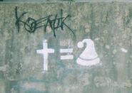 Santanic graffiti