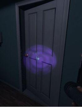 Image of Fingerprints on a door.