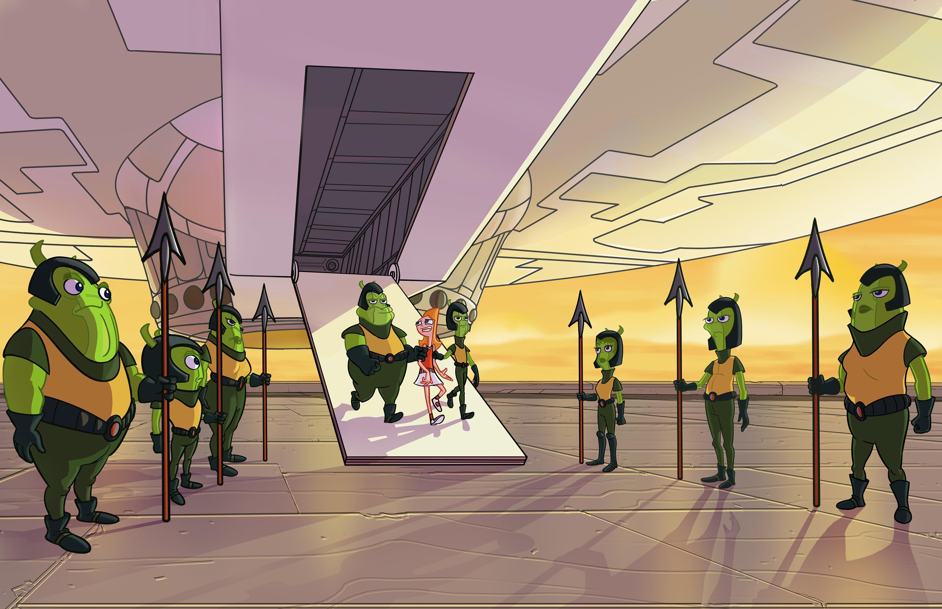 Unknown green aliens