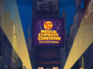 """Click here to view more images from """"Phineas and Ferb Musical Cliptastic Countdown Hosted by Kelly Osbourne""""."""