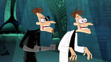 "Both Doofenshmirtzes saying, ""Ah, Perry the Platypus!"""