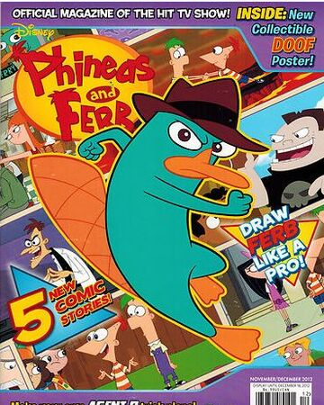 Phineas And Ferb Magazine November And December 2012 Phineas And Ferb Wiki Fandom