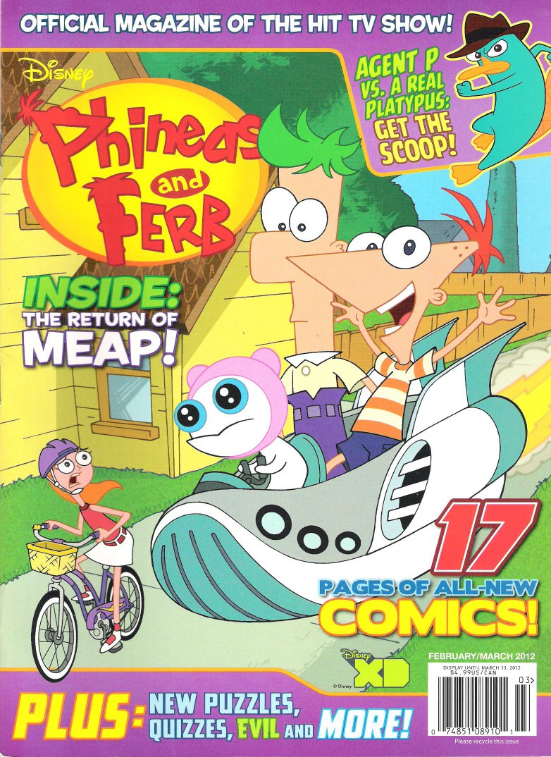 Phineas and Ferb (magazine)/February and March 2012