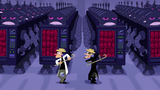 Cuts to Two Doofenshmirtzs dancing with the vending machines as robots
