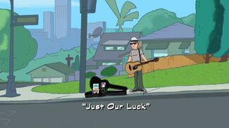 """Click here to view more images from """"Just Our Luck""""."""