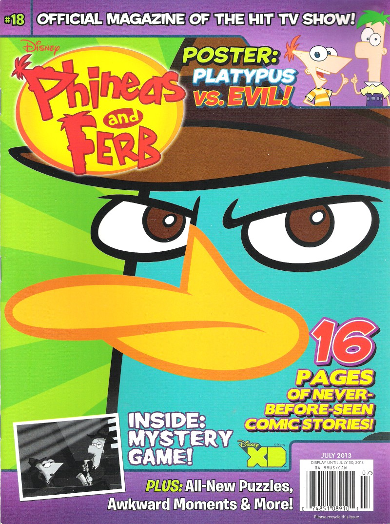 Phineas and Ferb (magazine)/July 2013