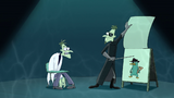 "1st dimension Doofenshmirtz saying ""Perry the Platypus!"""