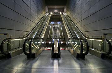 Escalators in Copenhagen Metro.jpg