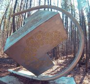 Cool Metal Cube in the Woods