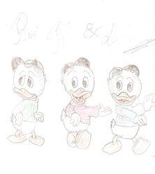 Riri, Fifi et Loulou Duck Remy13127