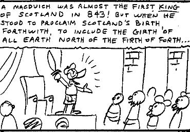 McPicsou ayant failli devenir le premier roi d'Écosse