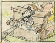Crayonné de Mickey Mouse The Delivery Boy