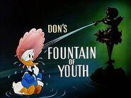 Title card La fontaine de Jouvence de Donald