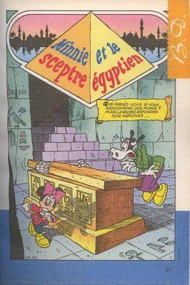 Minnie et le sceptre égyptien