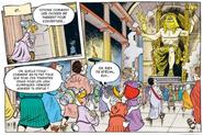 Succès pour l'inauguration de la statue de Zeus