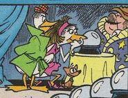 0.0. Duck, Mata Harrier, le chien de 0.0. Duck et Blonk