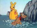 Pluto Pique-nique sur la plage