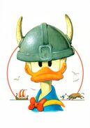 Donald Viking par Marco Rota