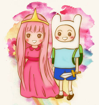 1 princess bubblegum and finn by frappeybear-d4vtxa1