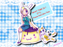 3 Fionna and cake pudding time by pikachan10-d4hg9jm