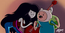 Adventure time marceline and finn by bratchny-d58kdyd