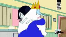 1 S4 E25 Ice King and Marceline hug